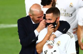 Zinedine Zidane shows support to Hazard after poor display against Chelsea